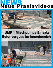 UMP1 indoor betonieren